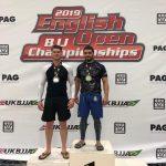 Ricardo winning gold for ruislip bjj